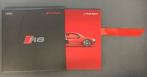 Audi-R8-Coupe-amp-Spyder-2017MY-Sales-Brochure-in-slipcase-Used-Condition