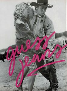 1986 ESTELLE LEFEBURE HALLYDAY for GUESS JEANS Magazine ...