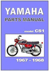 yamaha parts manual cs1 ycs1 1967 and 1968 replacement spares rh ebay com