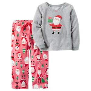NWT Carter s Girls Size 4 5 8 Santa Tree Pajama Set Pant Top 2 PC ... 20ebec801
