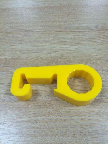 Liberación rápida Hi Lift Jack de poliuretano anti Sonajero Titular de Abrazadera de Mango Amarillo