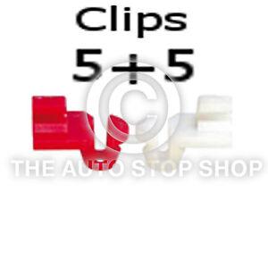 Clips verrou de porte clips baguette 2,5 mm Renault Master-Zoe 1274re Pack de 5 + 5