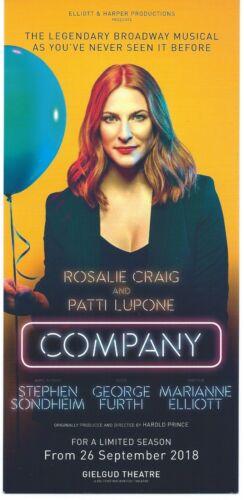 Stephen Sondheim COMPANY color ad flyer PATTI LuPONE Rosalie Craig London