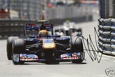 "Formula One F1 Driver Jaime Alguersuari Red Bull Hand Signed Photo 12x8"" C"