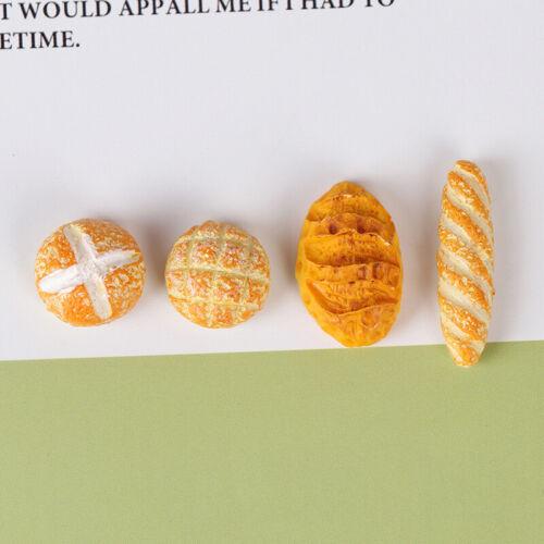 4Pcs Bread dollhouse miniature food breakfast snack desser tiTEUS