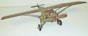 SéRieux Maquette D'avion Fabrication Artisanal En Laiton Haut 8 Larg 32 Prof 22 Cm