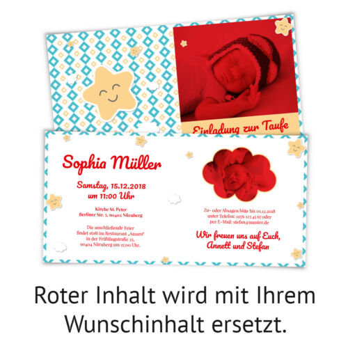 Gifts Cards Invitations Invitation Cards Christening Invitation-Happy Star