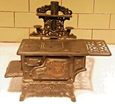 Cresent  Vintage Antique Cast Iron Salesman Sample Miniture Wood Cooking Stove