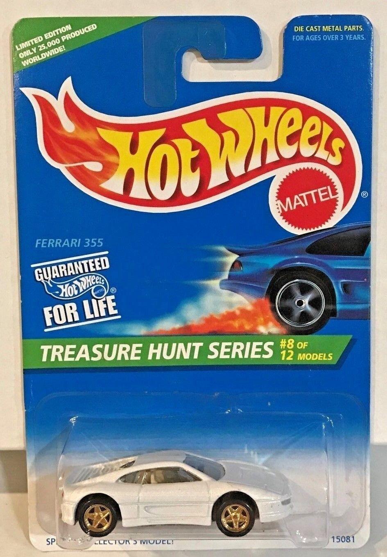 Hot Wheels 1996 Schatzsuche - Weiß Ferrari 355 W   Gold Pr5's  8 Of 12 - Le