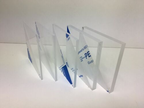 Clear Plastic Perspex Acrylic Cut Sheet Thick Panels shed  3mm 4mm 5mm 8mm 10mm
