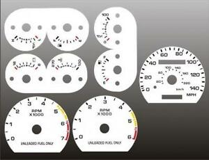 1990-1993-Ford-Mustang-140-mph-Dash-Cluster-White-Face-Gauges-90-93