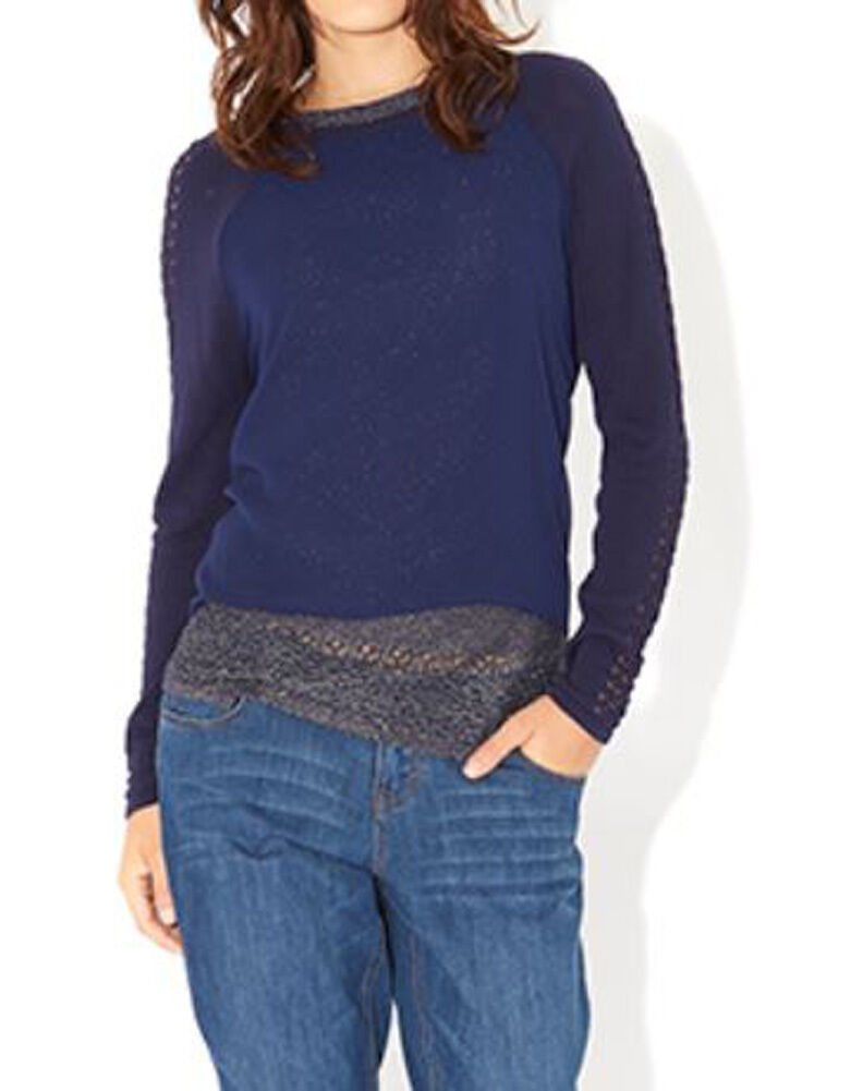 MONSOON Alma Woven Front Jumper with Vest BNWT