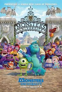 Walt Disney S Monsters University Movie Poster Print 11 X 17 Inches 7429702621628 Ebay