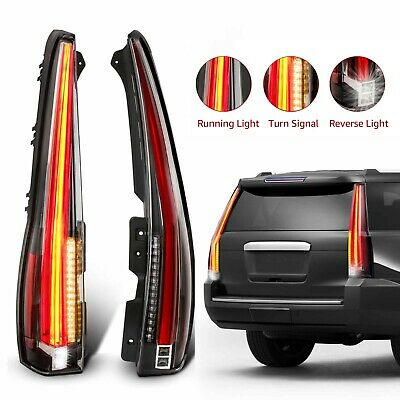 1 Pair LED Rear Tail Lights For 07-14 Chevy Chevrolet Suburban Tahoe GMC Yukon