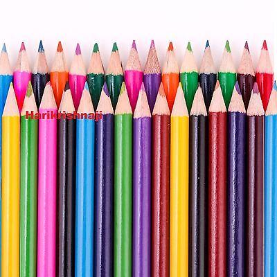 60 X Paquete de Lápiz de Color Grande Escuela Papelería Niños//Niños//Juego de artesanía de arte