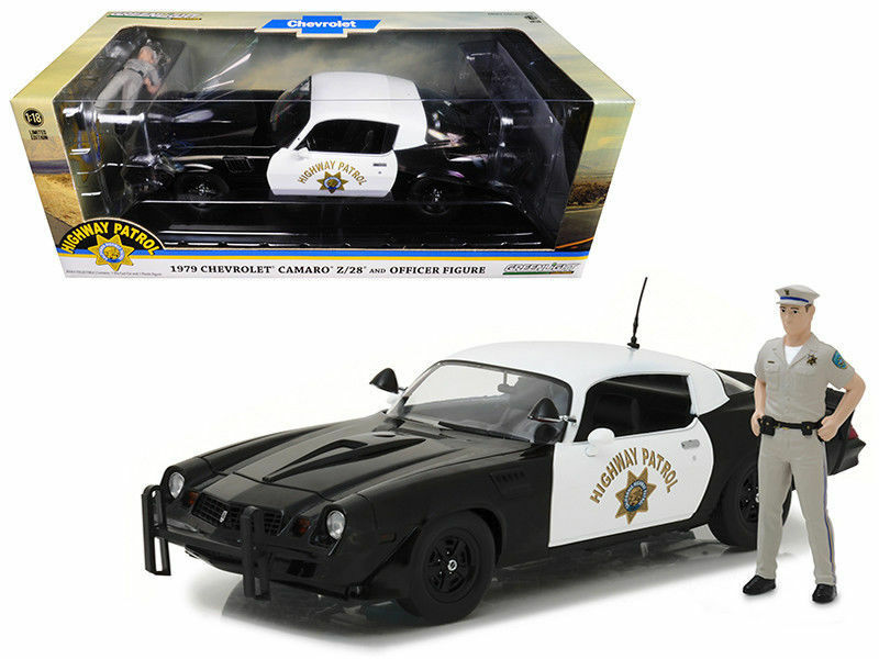 vertlight 1 18 1979 Chevrolet Camaro Z28 California Highway Patrol avec figurine