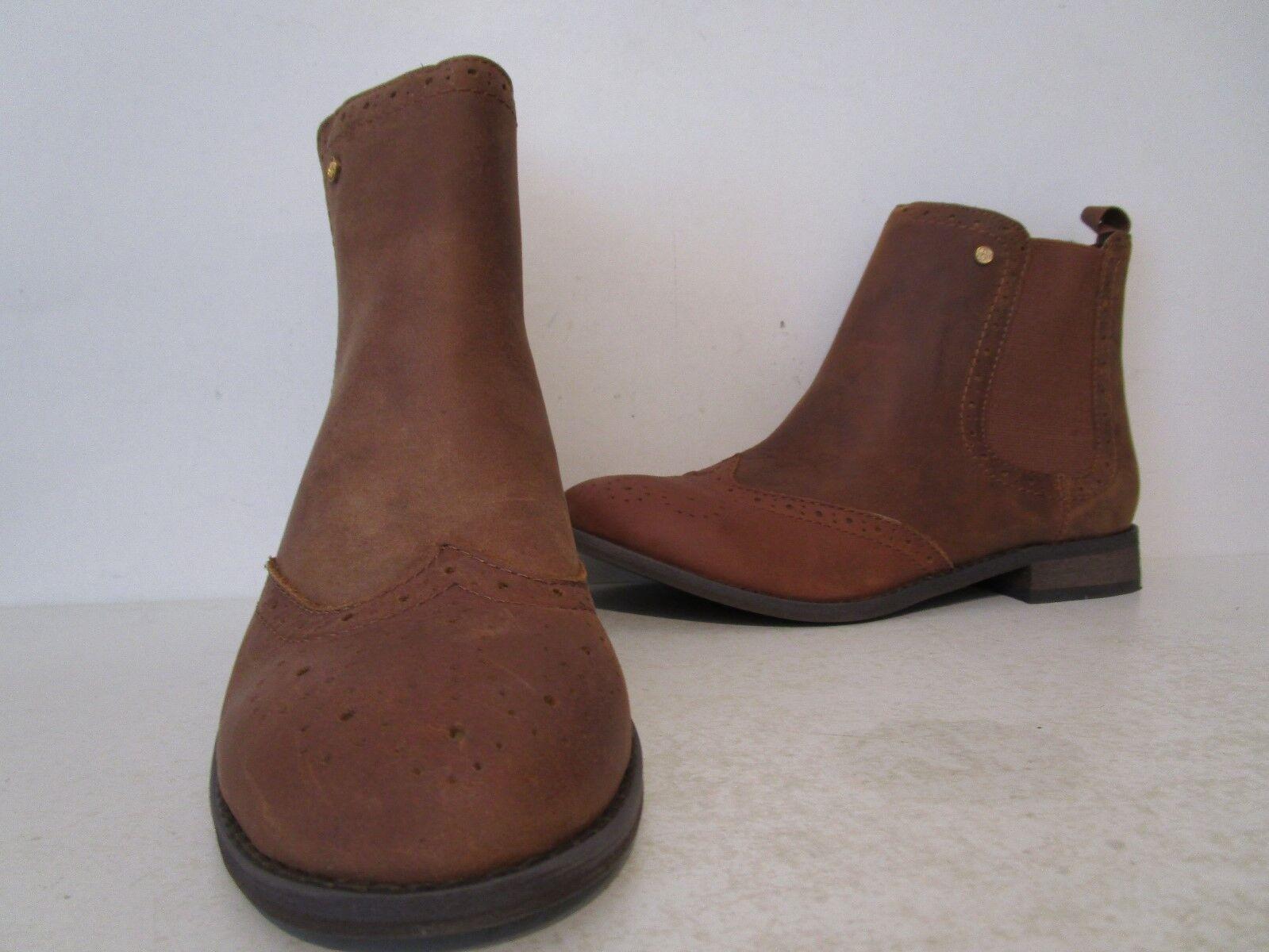 Bajo de cuero para mujer Danni Wing Tip Tip Tip corneada Tobillo botas Castaño Tamaño 9 M  genuina alta calidad