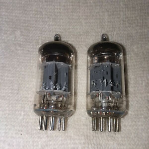 Siemens-5814A-12AU7-Tubes-Mid-1960-039-s-Vintage-Triple-Mica-1-pair