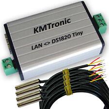 KMtronic LAN DS18B20 Digital Temperature Monitor  4 Sensors 1 meter Cable