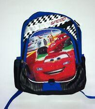 BNWT Disney Pixar Cars Lightning McQueen Blue Deluxe School Backpack