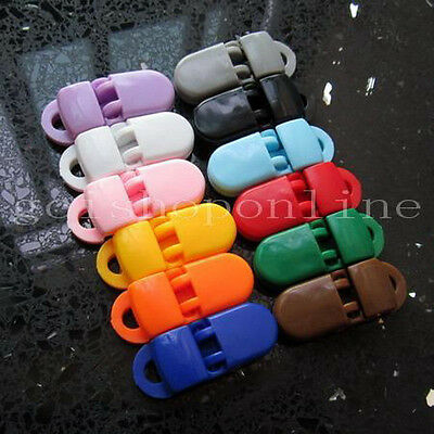 Lot 10 clip Pacifier Plastic Badge Lanyards Craft Clips Sewing