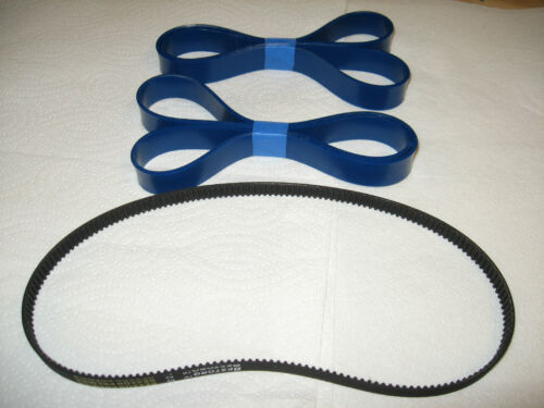 2 BLUE MAX URETHANE BAND SAW TIRES AND DRIVE BELT FOR DELTA  28-195  28195 DELTA