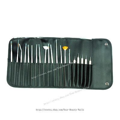 20 pcs Set Nail Art Paint Dot Draw Pen Brush for UV Gel diy decoration tools