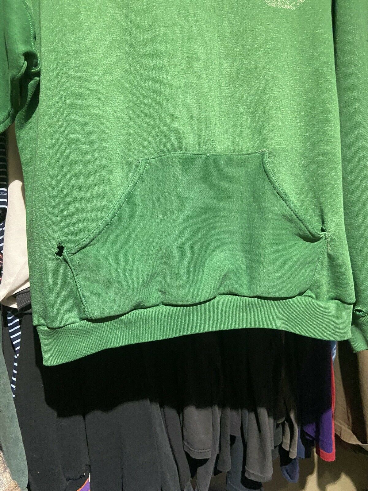 Vintage 70s Russell Athletic Green Pullover Hoodi… - image 10