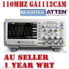 """ATTEN OSCILLOSCOPE GA1112CAM 110MHz 2Mpt 1GS 7"""" LCD Screen USB 100Mhz Multimeter"""