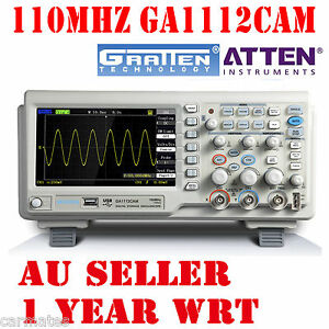 ATTEN-OSCILLOSCOPE-GA1112CAM-110MHz-2Mpt-1GS-7-034-LCD-Screen-USB-100Mhz-Multimeter