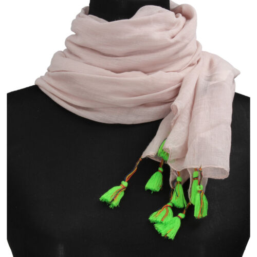 accessori sciarpa stola donna NALI/' rosa cipria cotone AF451