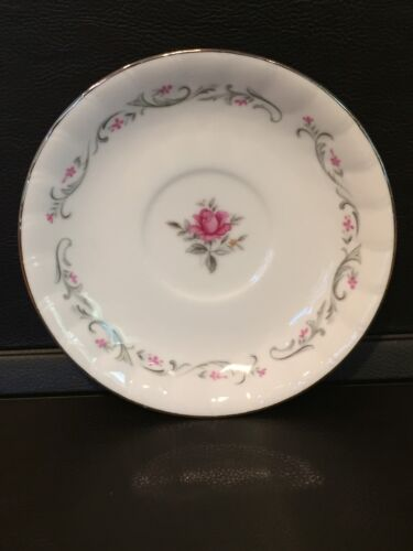"""Pink Rose SAUCER Royal Swirl by Fine China of Japan 6/"""" cup sold separately"""