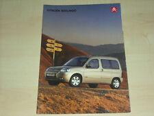 55453) Citroen Berlingo Prospekt 12/2003