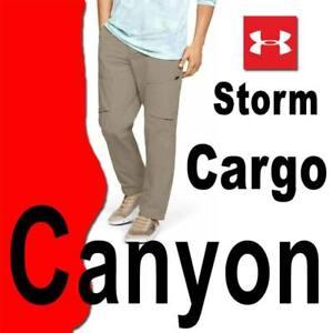 MEN-UNDER-ARMOUR-UA-CANYON-PANTS-STORM-TACTICAL-OUTDOORS-CARGO-1352692-299-32x30