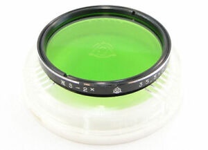 NEW-Russian-Yellow-Green-YG-2x-Lens-Filter-35-5mm-Industar-50-2-Smena-8m