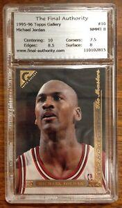 Michael Jordan Topps Gallery The Masters #10 Basketball Card 1995 - 1996 TFA 8.0