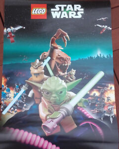 Lego-Star-Wars-Yoda-A3-Poster-NEW-42cm-x-30cm-Approx-with-lightsaber-tube
