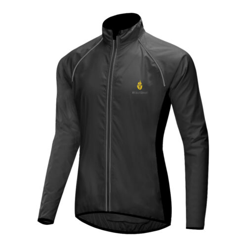 Herren Reflektierend Fahrradjacke Winddichte Wasserabweisend Lange Jacken Mantel