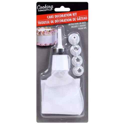 6 Pc Cooking Concepts Cake Decorating Kit