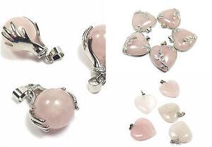Rose-Quartz-Pendants-Natural-Stone-Jewellery-Chakra-Healing-Reiki-Heart-Necklace