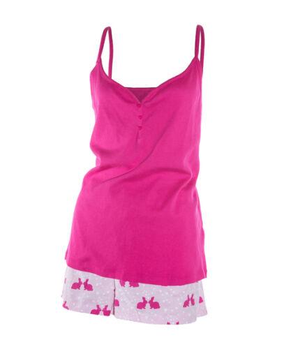 Schlafanzug Rosa Hase Gr 36 38 40 42 44 46 Neu Damen  Pyjama