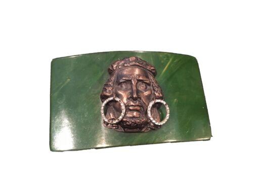 JOSEFF OF HOLLYWOOD ETHNIC Vintage Green Bakelite