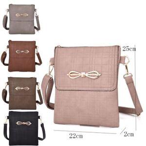 535e22d1f22 Details about Womens Designer Style Cross Body Bag Ladies Handbag PU  Leather Shoulder Bag