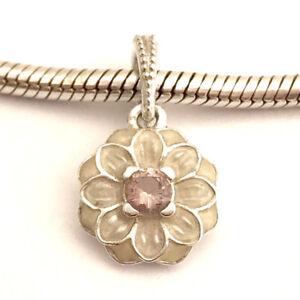 cf0885459 Image is loading Authentic-Pandora-Blooming-Dahlia-Dangle-Charm-Cream-Enamel -