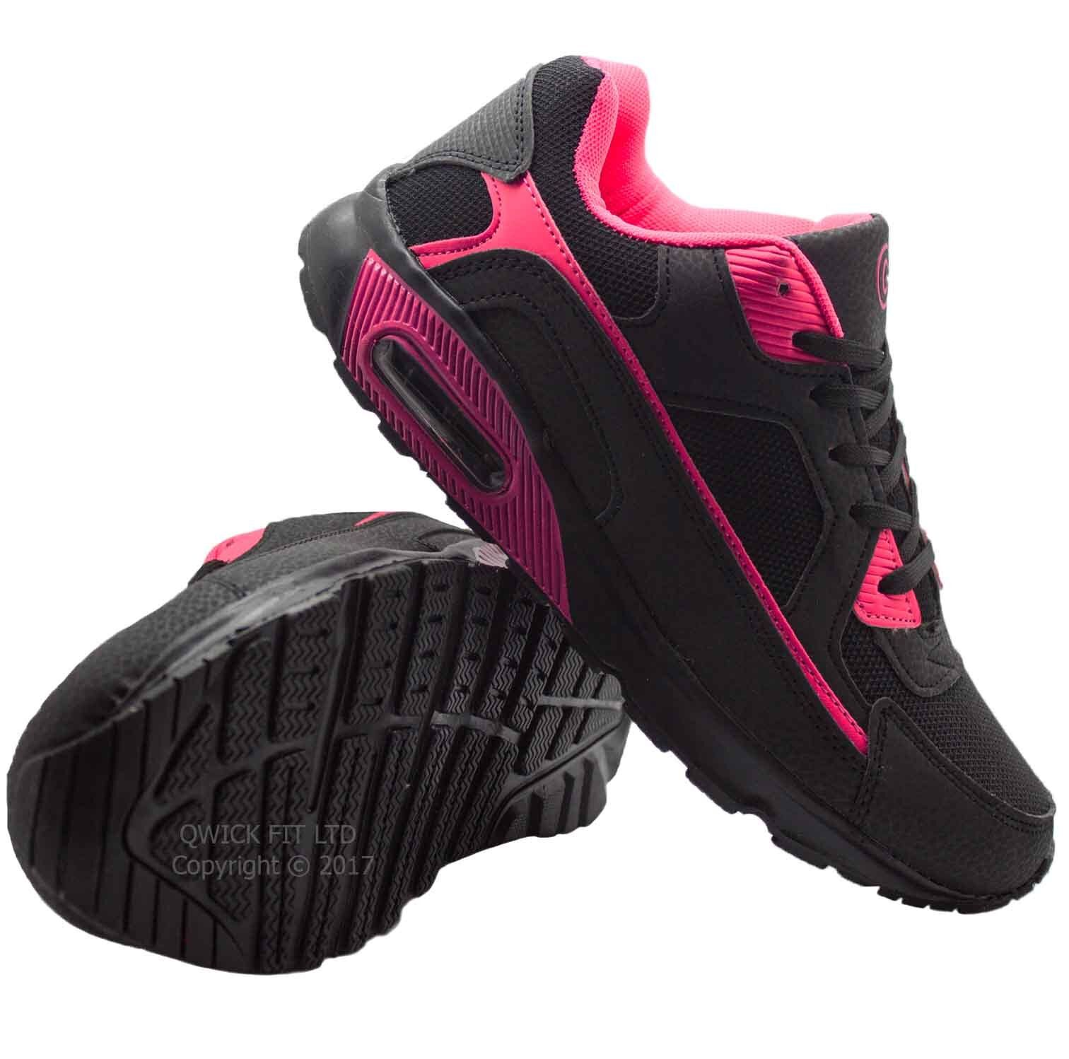 LADIES WOMENS TRAINERS CASUAL GYM FITNESS PE RUNNING JOGGING LACE UP SHOES SIZE