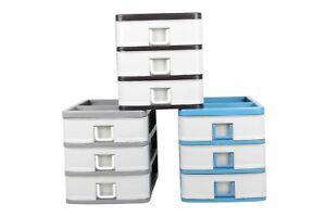 3-Drawers-Strong-Plastic-Small-Storage-Unit-Organizer-Tower-Box