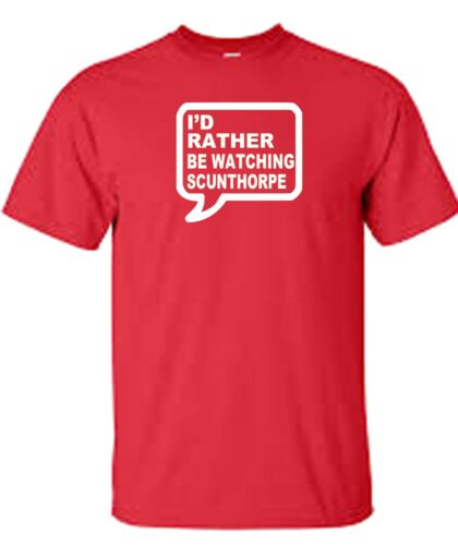Scunthorpe t shirt away days rather or train