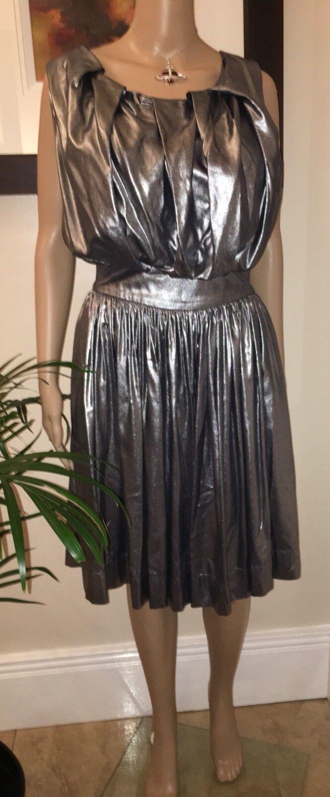 Vivienne Westwood  Anglomania Gardner argentoo Pleat Dress 42