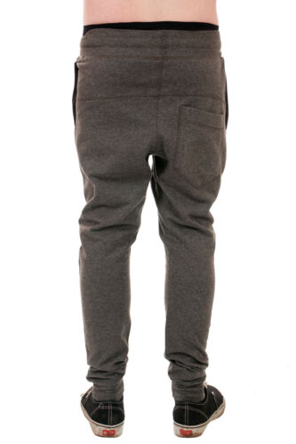 MENS CARROT FIT TWISTED CUFFED HEM DROP CROUCH SLIM SKINNY FIT JOGGERS ALL SIZES