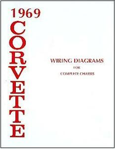1969 69 corvette wiring diagram manual ebay rh ebay co uk Electronic Ignition Wiring Diagram Color Diagram